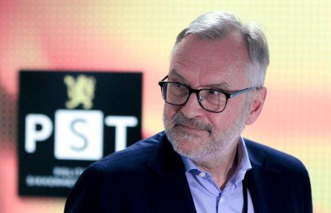 Hans Sverre Sjøvold på et pressemøte hos PST i Nydalen i Oslo tidligere i år.
