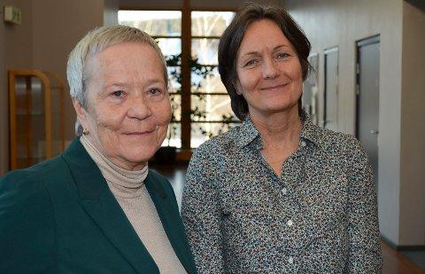 MÅ VENTE: Rektor Kathrine Skretting (til venstre) og styreleder Maren Kyllingstad må vente til juni med å få svar på om Høgskolen i Innlandet kan bli universitet. (Foto: Bjørn-Frode Løvlund)