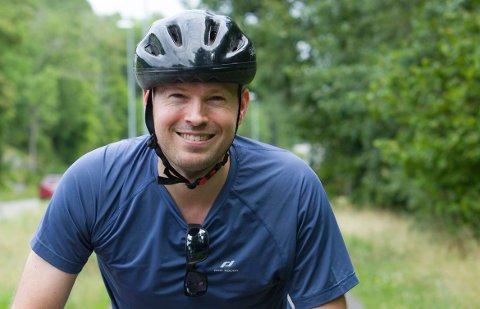 - Først syklet jeg med barna, nå tar jeg meg en tur alene ut til Verdens Ende, sier Frederik Orderud fra Oslo.