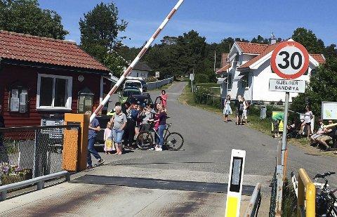 FERJEKAIA: Sandøya skal få ny ferje og nye muligheter.