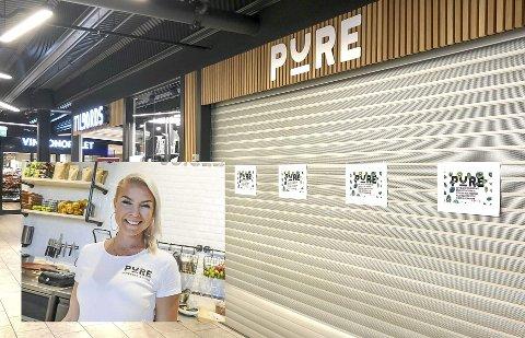 TRÅ START PÅ DET NYE ÅRET: Linda Sem Brårmo og Pure Juicebar & Café på Down Town har vært stengt siden nyttår. – Det eneste jeg kan gjøre er å være positiv.