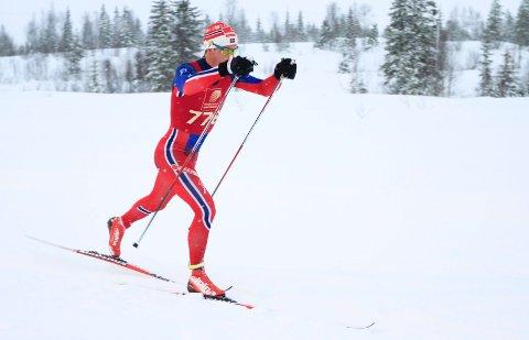 Romjulsrennet 2015 på Sjåmoen skistadion. Rolf Einar Jensen