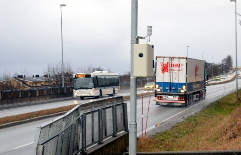 Forsvinner: En stor mengde tungtransport forsvinner nå daglig mellom Bodø og Fauske. Det er godt nytt med hensyn til blant annet trafikksikkerhet og miljø.