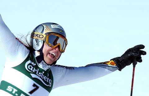 IK Fjällvindens Anja Pärson tok bronse i OL i Vancouver i 2010 – dagen etter at hun hadde hatt et skrekkfall.
