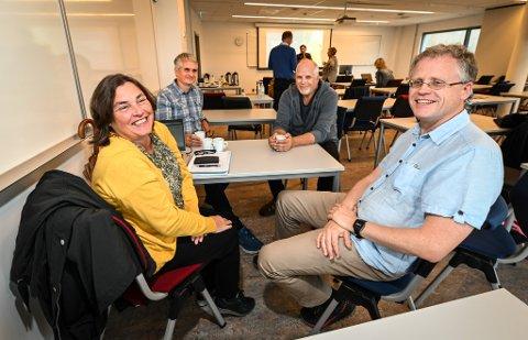 Studenter fra Nesna: Fra venstre: Ann Kristin Klausen, Øyvind Steinslett, Halvor Hilmersen og Raymond Lillevik.