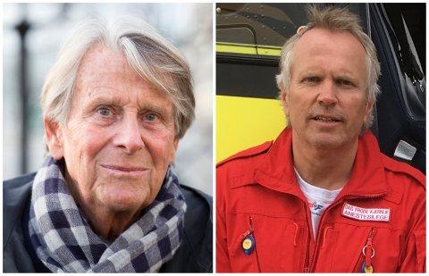 UENIGE: Knut Faldbakken mener ikke Hamar har blitt tatt seriøst som et alternativ til framtidig sykehusstruktur. Dag Frode Kjernlie er uenig.