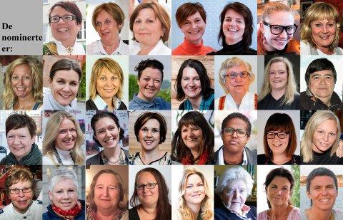 Disse kvinnene kjemper i år om tittelen årets kvinnelige forbilde.