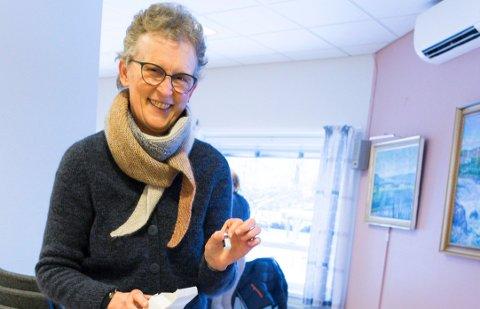 FÅR MANGE DOSER: Kristin Andresen er glad for at mer enn 2.000 ringerikinger skal få sin første vaksinedose de neste to ukene.