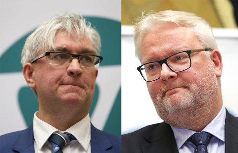André N. Skjelstad (V) og Frank J. Jenssen (H) fra kommunal- og forvaltningskomiteen på Stortinget. FOTO: BERIT ROLAND/NTB SCANPIX