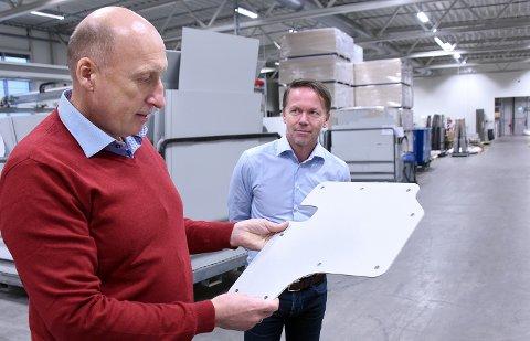 Loyds på Bredmyra har solid økonomi. Her erpresentert ved daglig leder Lasse Hansen (t.v.) og Eirik Lier.