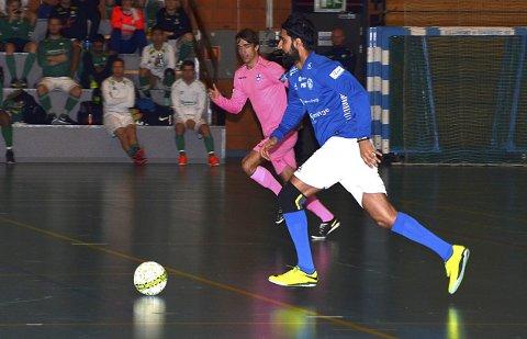 I «FEIL» DRAKT: Abdullah Ashraf skal spille for Askim igjen i 2019, men i helgen spilte han for Rakkestad.