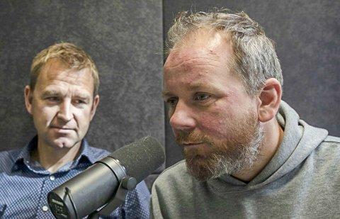 Tor-Erling Thømt Ruud (t.h.) og Øystein Milli relanserer krimpodden i VG.