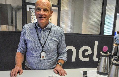 GLEDER SEG: NEL på Notodden hadde 30 ansatte da Erik Løkke-Øwre kom i 2018. Han har vært med på å ansette 50 til. Og gleder seg til å være med på å ansette ytterligere 30 i 2021.