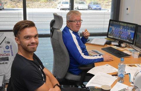 KRISTIANSUND: Notodden fotball ble i dag enige med Kristiansund om en overgang for Kjetil Tøsse (t.v). Daglig leder Per Arne Hansen er fornøyd med at NFK nok en gang har sendt en spiller til eliteserien.