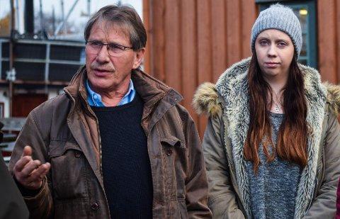 MENTOR: Arne Steinsbø hjelper ungdom ut i arbeidslivet. Her sammen med Elise Fadum Aas.