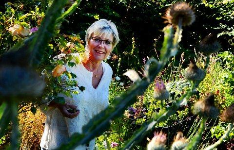 SANKER FRØ:  Ingerid Anneli Edh samler frø, katalogiserer, bytter til seg og gir bort. – En rimelig måte å fylle hagen med bomster på , sier hun.