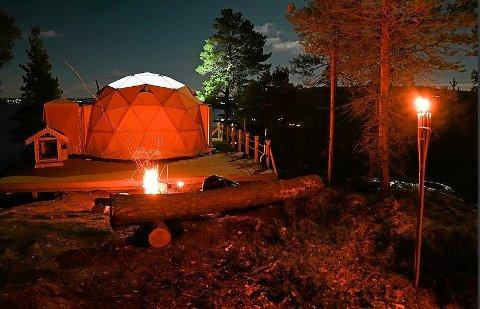VOLDSOM PÅGANG: Det har vært en enorm pågang til Ytterøy Forest Domes etter oppstarten  desember 2020.