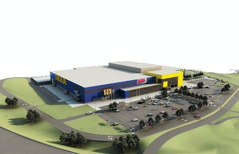 KANSKJE, KANSKJE IKKE: Det har lenge vært usikkert om det blir et nytt Ikea-varehus på Danebo. Nå skal Ikea snart bestemme seg.