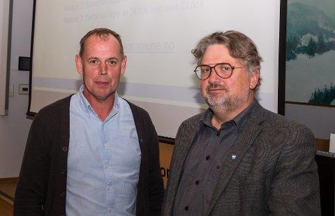 Samstemt: Det er selvfølgelig like viktig for Frogn kommune at ordfører Hans Kristian Raanaas (t.v.) og rådmann Harald K. Hermansen har et tilnærmet samstemt syn på kommunal krisehåndtering.