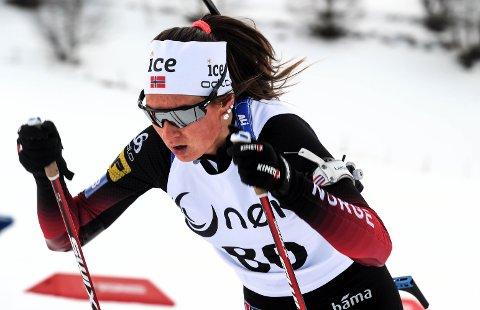 VANT: Maren Bakken, Os IL, tok lørdag gull i NM skiskyting klasse K 20-22.