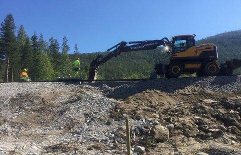 VEDLIKEHOLDSARBEID: Rørosbanen vil være stengt på grunn av omfattende arbeid.
