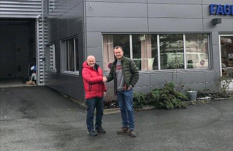 AVTAle: Torsdag denne uken kunne Morten Presthagen og Kjell Lunde i Tvedestrand gi hverandre hånden på at det blir callsenter i de tomme lokalene på Bergsmyr i Tvedestrand.