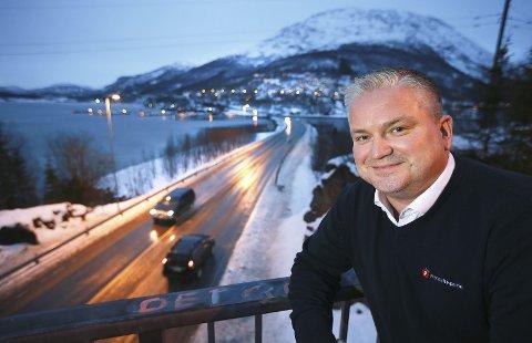 Fornøyd: Statssekretær Tom Cato Karlsen lanserte ny E6 gjennom Sørfold før jul i 2015.Foto: Tom Melby