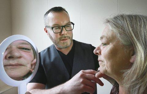 Frode Molund Haugen åpnet skjønnhetsklinikk i Saltdal i 2017 med Botox-injeseringer. Nå må klinikken omstille praksisen. Foto: Tom Melby