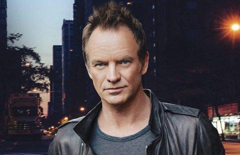 65 år og veldig oppegående: Sting turnerer verden rundt der låtene på konsertene strekker seg fra begynnelsen med The Police i 1978 og fram til hans siste soloalbum, som ble utgitt i fjor.Foto: Pressebilde
