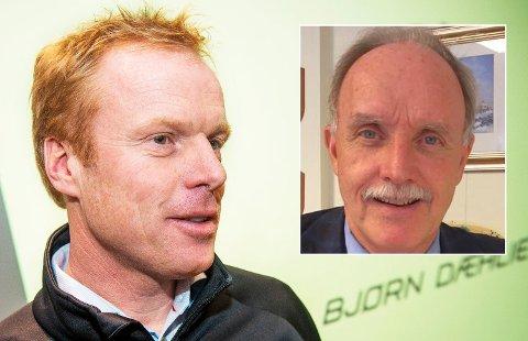 SIKKER PÅ BJØRN: Ordfører Sture Pedersen i Bø i Vesterplen er sikker på at Bjørn Dæhlie vil investere i kommunen. Foto: Scanpix/Høyre
