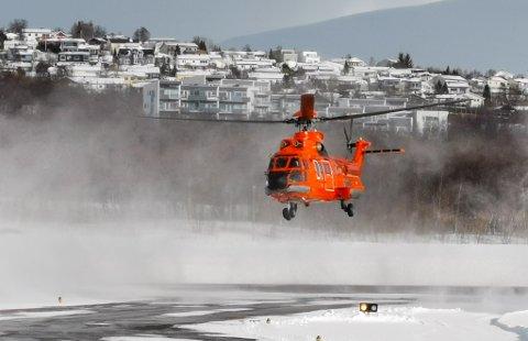 KORONAHELIKOPTER: Etter planen er helikopteret i drift allerede mandag.