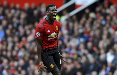 Paul Pogba var ikke lei seg for at Jose Mourinho måtte forlate jobben som United-manager.  Foto: Nick Potts (Pa Photos) (AP Photo/Rui Vieira)