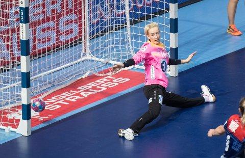 Katrine Lunde og Norge ble overkjørt av Romania i perioder av EM-kampen onsdag.