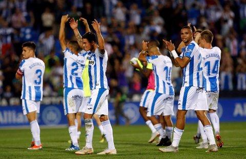 Leganes slo overraskende Barcelona hjemme på  Butarque stadium i Leganes i september. Fredag kveld tror vi de kan slå et nytt lag fra Barcelona. (AP Photo/Manu Fernandez)