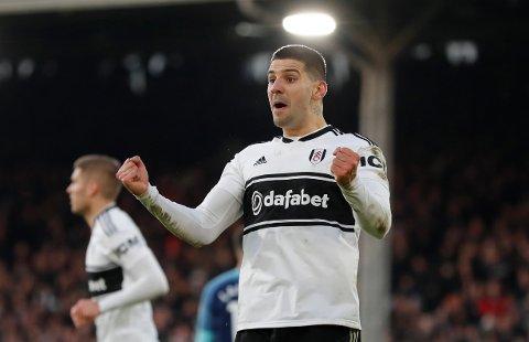 Aleksandar Mitrovic scoret da Fulham tok sesongns første seier i Championship forrige helg. Nå jakter han sin andre scoring på to kamper.  (AP Photo/Frank Augstein)