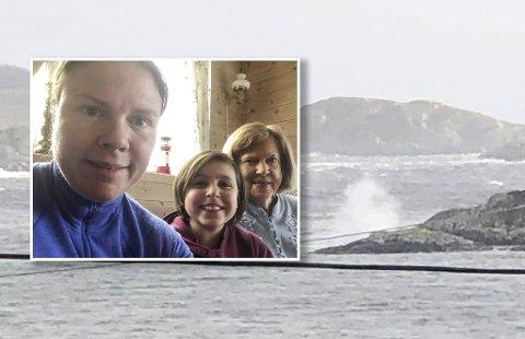 Anita Ustun og familien fikk en lengre påskeferie enn de hadde sett for seg.