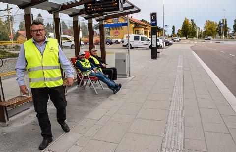 STOR STREIKEVILJE: Kurt Hansen (f.v.), Younes Arfaoki og Bjørn Blegeberg, sier streikeviljen er stor og at de er forberedt på at streiken kan bli langvarig.