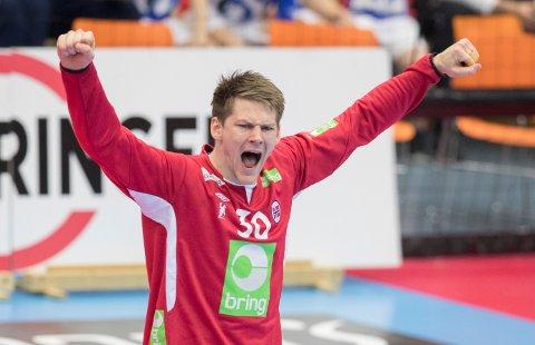TIL VM: Åros-gutten Torbjørn Sittrup Bergerud er trolig førstevalg i buret når de norske håndballherrene tar fatt på verdensmesterskapet i håndball som går i Danmark og Tyskland.