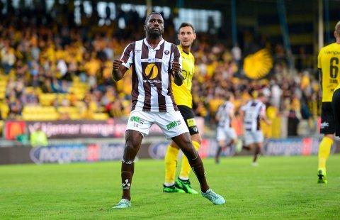 SCORET TO: Olivier Oceean scoret to mål, men det hjalp ikke på Åråsen.