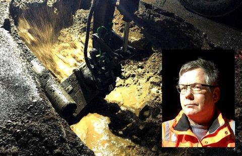 Flateby Vannverk hadde 17 lekkasjer på sitt ledningsnett i fjor. – ikke noe unormale tall, sier daglig leder Frank A. Jenssen i vannverket.