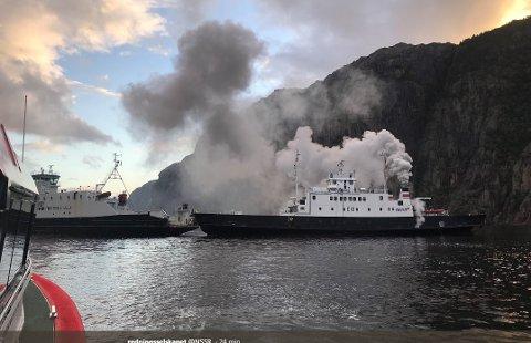 Det såg dramatisk ut på Lysefjorden.