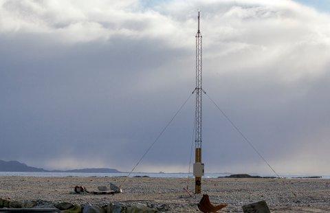Kystverket sin vindmålar i Kalvåg- skal gje data til sjøtrafikksentalen.