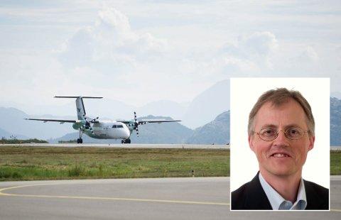 DYRT: Widerøe måtte ut med 4 millionar kroner i flyseteavgift i 2017. – Det er ein auka belasting på passasjerane i Florø, seier direktør Torbjørn Lothe i NHO Luftfart (innfelt).