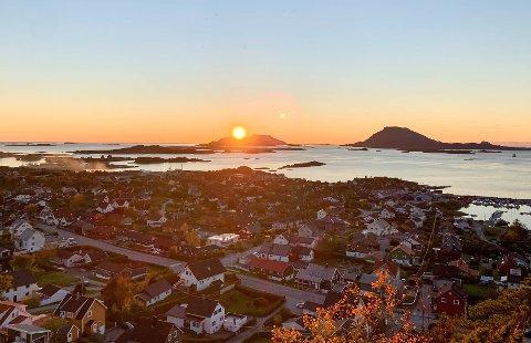 Solnedgang frå Storåsen i Florø.