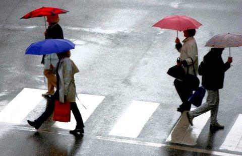 REGN: Fredrikstad kan vente seg regnbyger de kommende dagene.