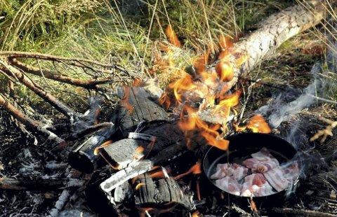 Ikke lov. Det er lov å grille hjemme, men i utmark og ved sjøen er det strengt forbudt å lage bål eller grille.