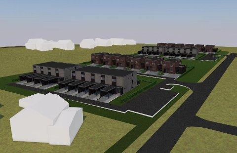 POPULÆRT: Det er ingen ting å si på interessen for det neste byggetrinnet i Verksbyen: 14 av disse planlagte boligene er allerede solgt.