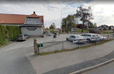 Gråtass barnehage Fagen på Torp er stengt på grunn av to smittetilfeller. Dette bildet ble tatt i 2019.