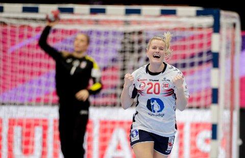 Marit Røsberg Jacobsen og Team Esbjerg er klare for semifinale. Bildet er tatt ved en annen anledning.