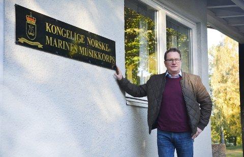 Kjemper: Finn-Øyvind Langfjell og Horten Høyre vil bevare Marinemusikken, og sender nå et  brev fra direkte til statsministeren.